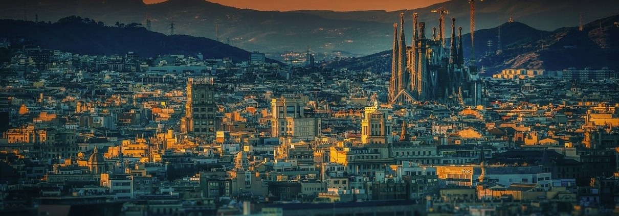 Barcelona Spain early in the morning