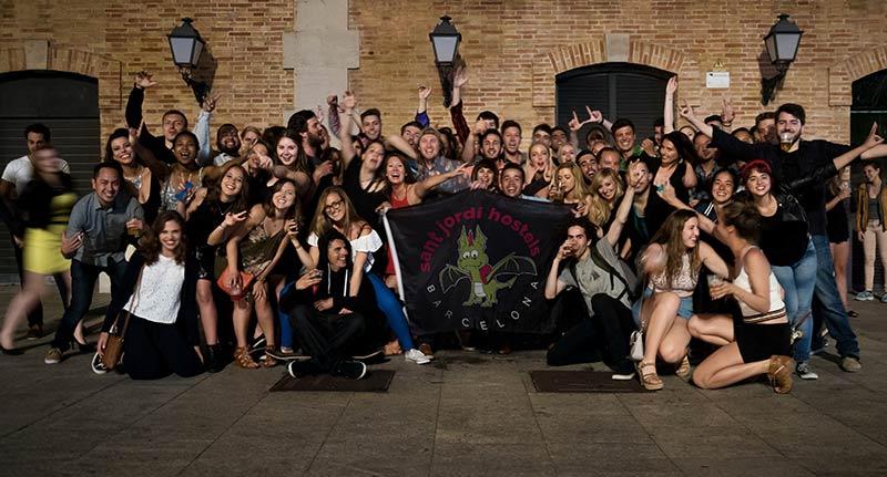 Santi Jordi Alberg Party hostel Barcelona