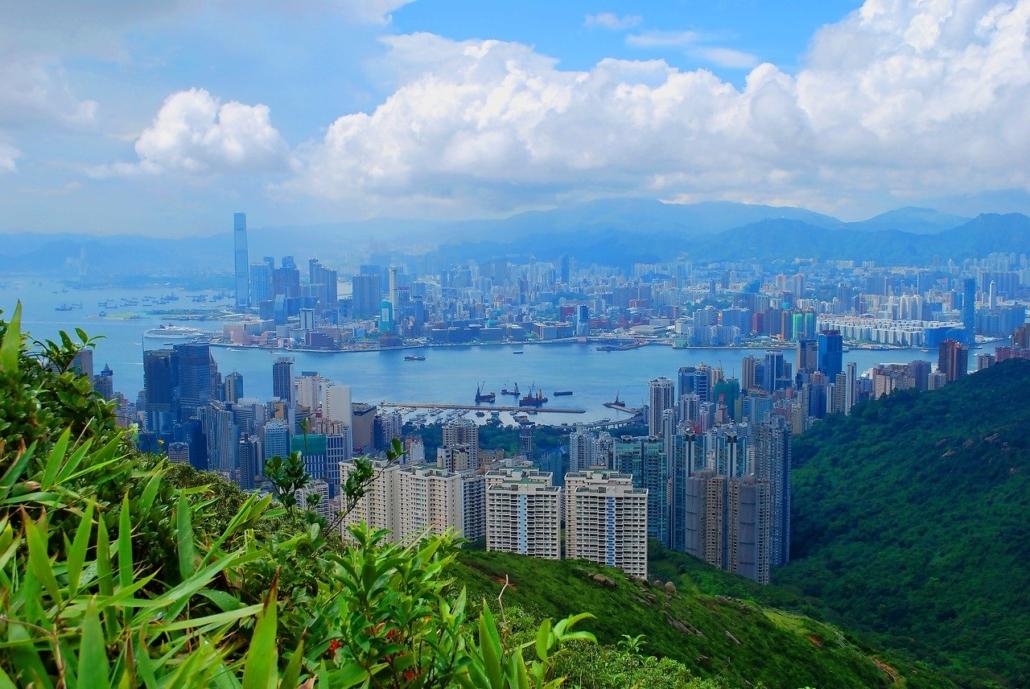 Hong Kong city's skyline