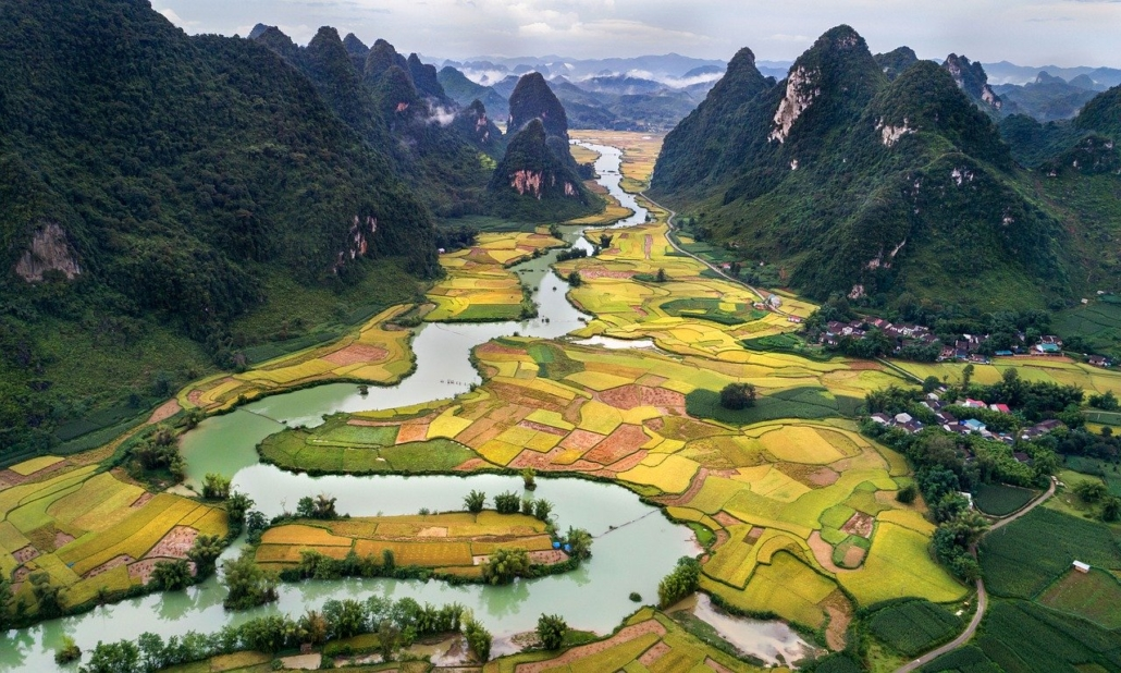 The beautiful landscape in Vietnam